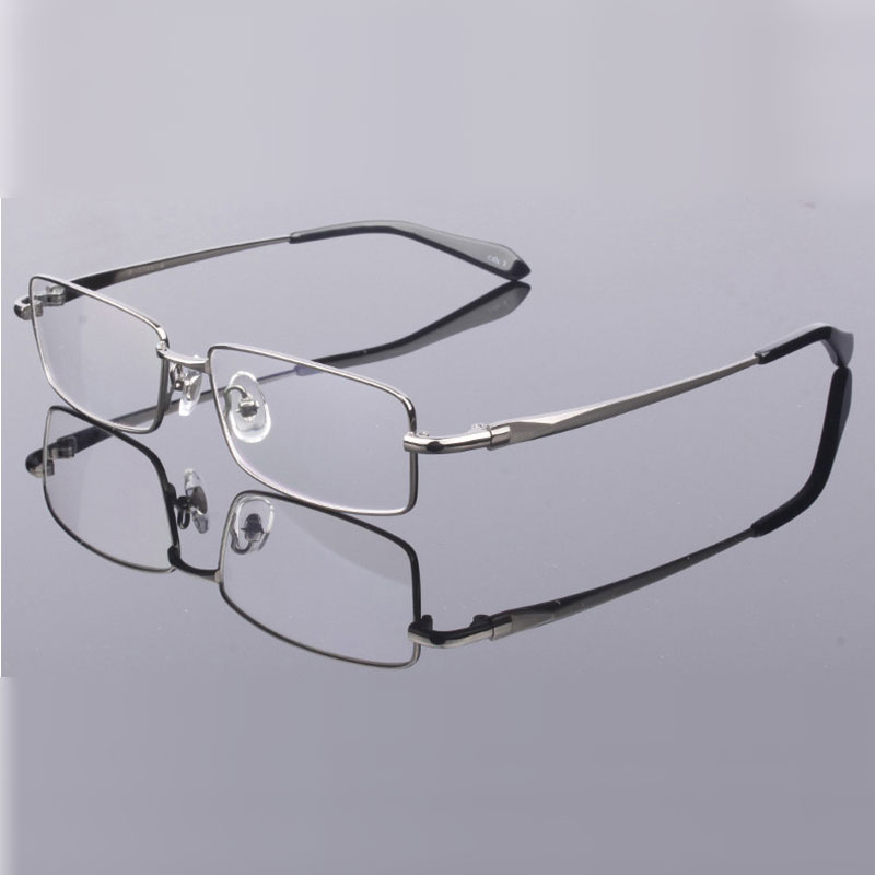Handoer Men Eyeglasses Frame Pure Titanium Optical Glasses Prescription Spectacles Full Rim Eyewear Metal Frame Glasses Frame