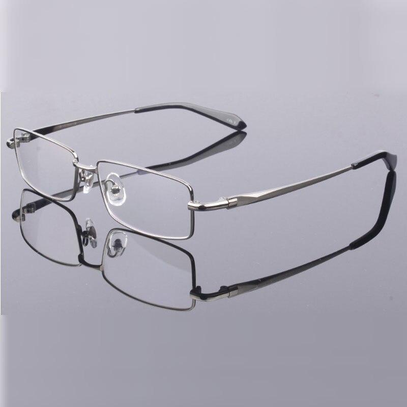 Handoer Men Eyeglasses Frame Pure Titanium Optical Glasses Prescription Spectacles Full Rim Eyewear Metal Frame Glasses Frame