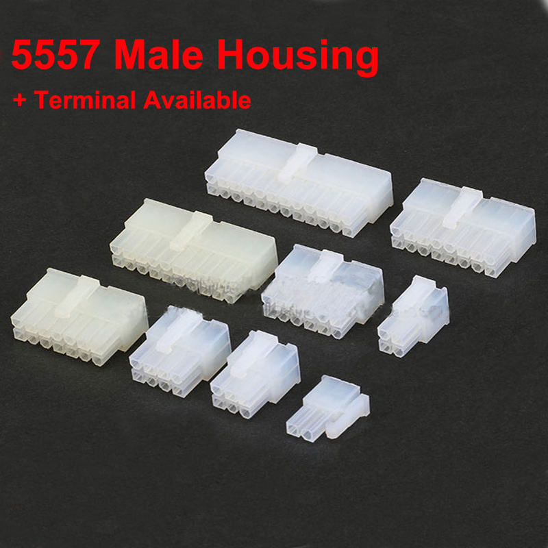 5557 4.2mm <font><b>Cable</b></font> Jumper Wire Male <font><b>Connector</b></font> Leads Header Housing <font><b>2</b></font> to 24 <font><b>pin</b></font> 4.2mm Pitch Shell Female Terminal Available image