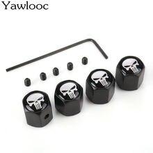 Yawlooc Горячая Противоугонная эмблема череп Колеса Автомобиля