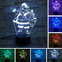 Christmas Gift 3D Santa Claus Led Nightlight Lava Lampara Touch Table Mood Bedroom Dimming Lamp Atmosphere