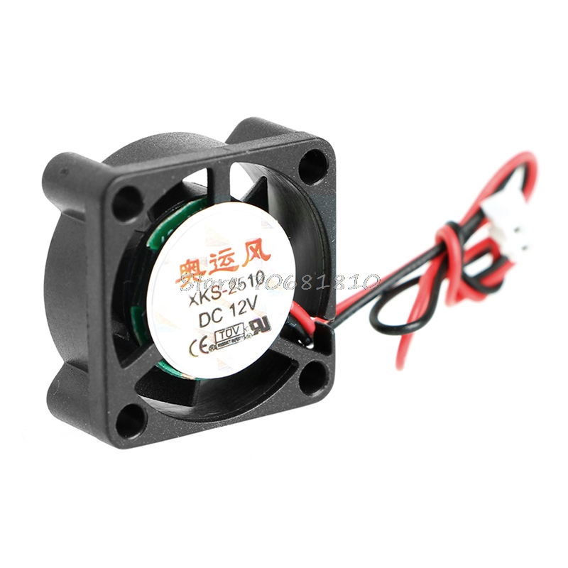 DC 12V 0.12A 2Pin 25x25x10mm PC Computer CPU System Brushless Cooling Fan 2510 Drop Shipping gdstime 10 pcs dc 12v 14025 pc case cooling fan 140mm x 25mm 14cm 2 wire 2pin connector computer 140x140x25mm