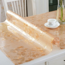 16 colores Suave Vidrio Transparencia PVC Cuadro de Tela Impermeable Wedding Party Inicio Cocina Comedor Mantel Pad Espesor 1.0mm