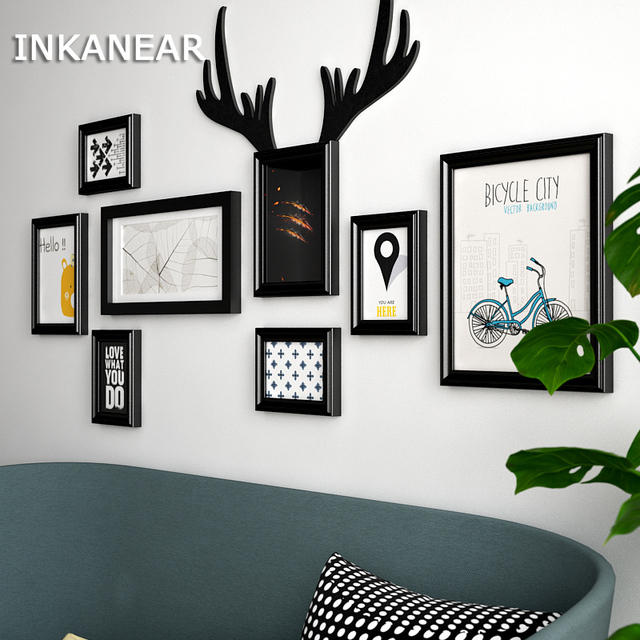 Modern Fashion Antlers Bar/Store/Home Wall Decoration Solid Wooden ...