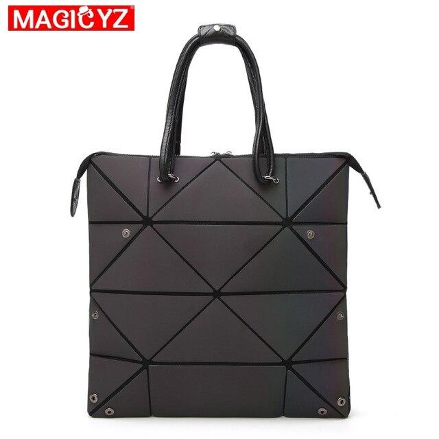 Luminous Geometric Fold Over Bag 1