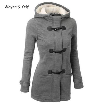 Weyes & Kelf Solid Turn-down Collar Wool Liner Winter Jacket Women 2018 Plus Size Outerwear Womens Jacket Oversize фото