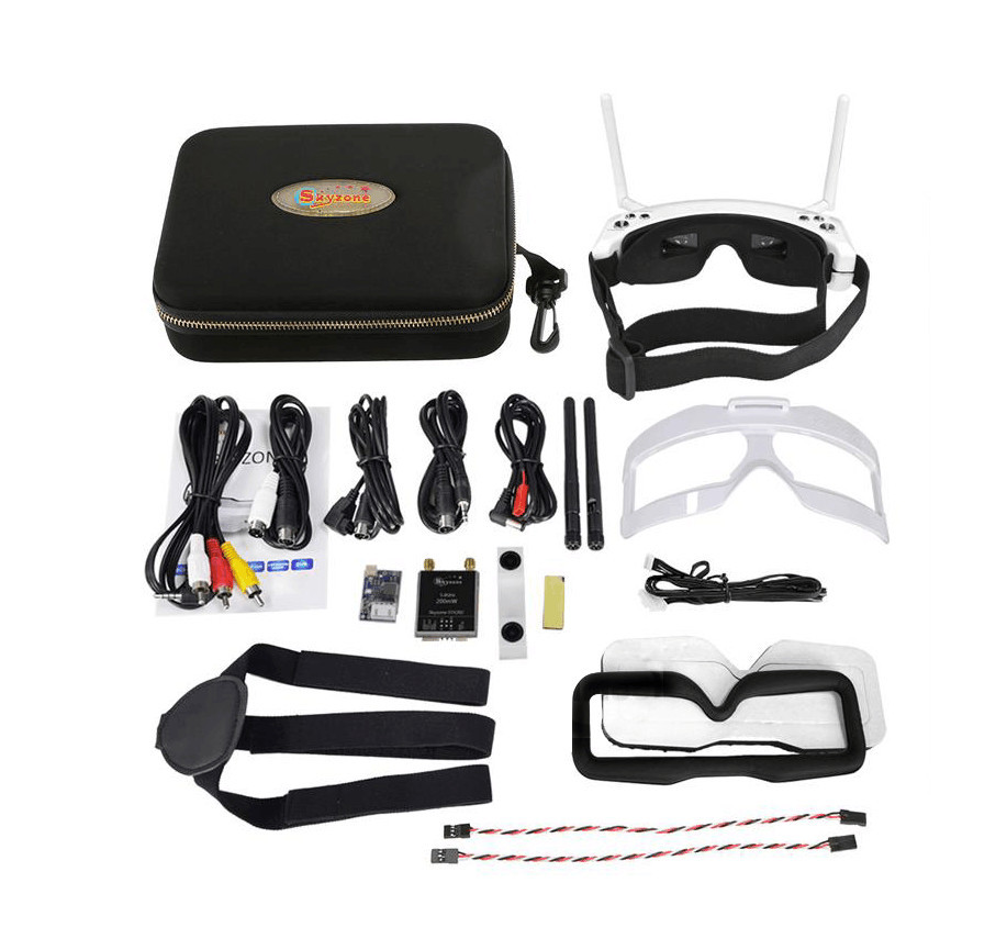 SKY02S V+ 5.8G 48CH 3D FPV Goggles with Channel Function highlight in HDMI-IN channel auto searching HDMI IN