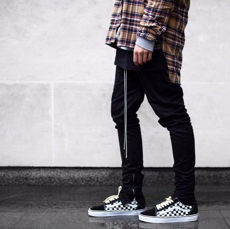 2018 Newest Fashion Men Hip Hop Pants Side Zippers Casual Fog Jogger