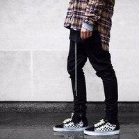 2018 Newest Fashion Men Hip hop Pants Side Zippers Casual FOG Jogger Pants Elastic Stretch Trousers Men's Pants