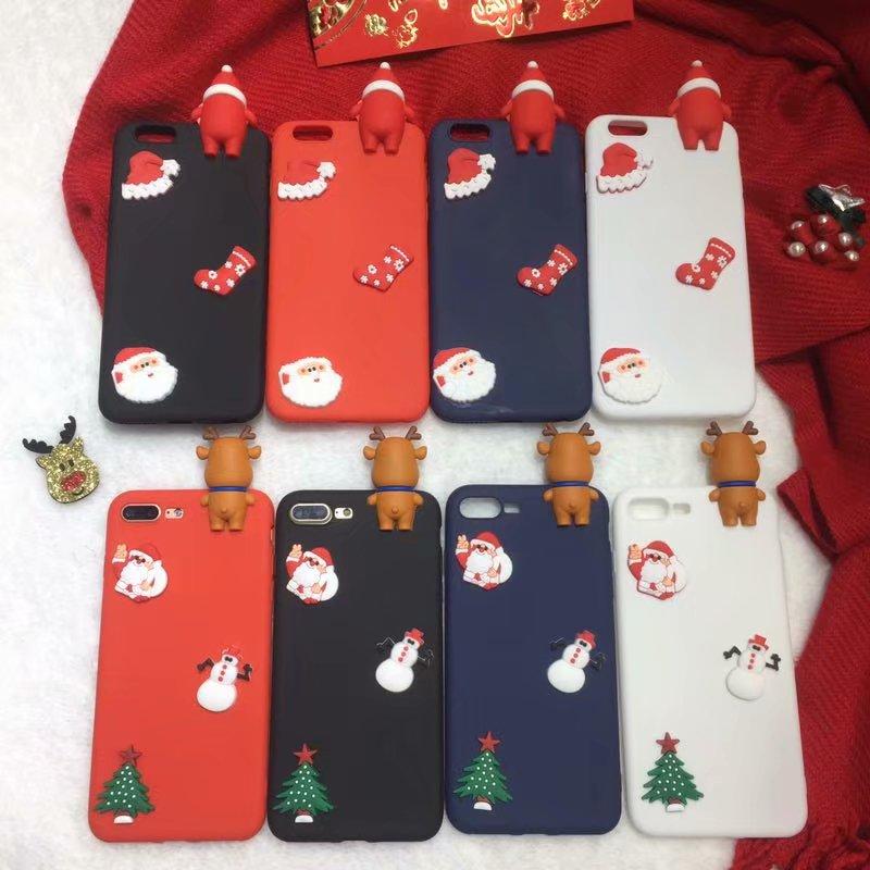 7e7b262d42fe1f Exhard Santa Claus TPU Silicone Case Fundas For iPhone 7 Plus X 8 Plus 6 6s  6 Plus 5 5s SE Case Coque Merry christmas Gift Hat