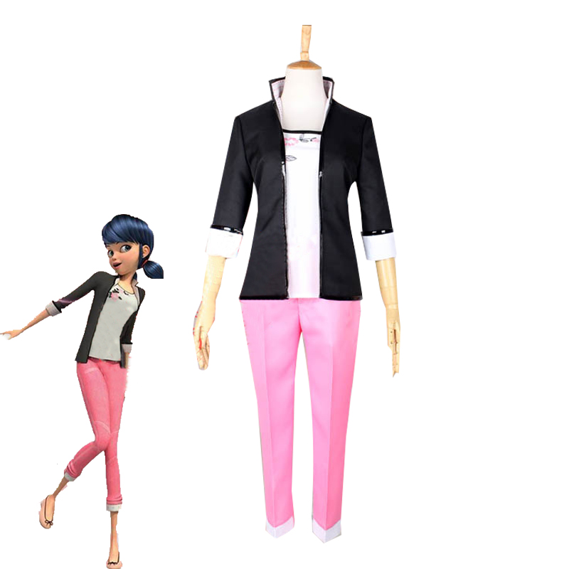 Marinette Cosplay Costume Women's Casual Uniforms Halloween Carnival Outfits Custom Made Top+Pants+Jacket