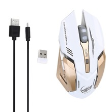 2.4Ghz USB Wireless 6 Buttons Gaming Mouse with 1600DPI Optical Mouse Gaming  For Computer PC Notebook Mouse Gamer