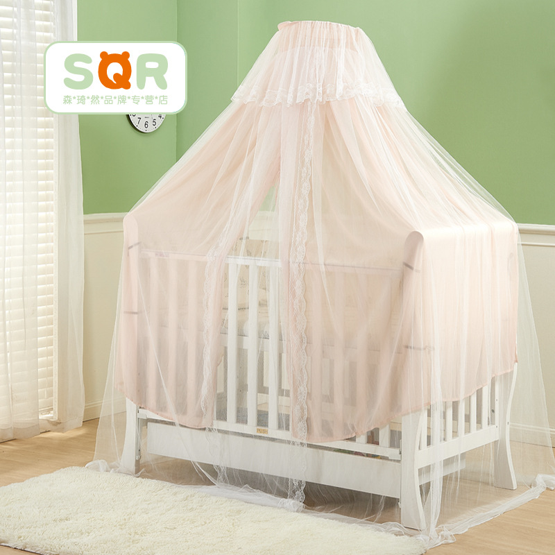 Mosquito Net Baby Bed Crib Netting Hanging Round Shading Dome Mosquito Net For Baby Room Decor Canopy Bed Curtain Tent цена