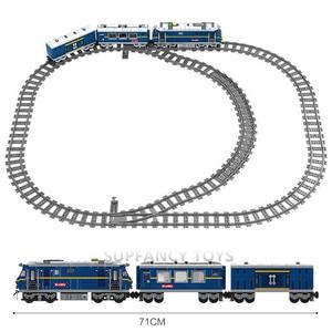 Image 5 - Grande cargaison de Train ferroviaire Diesel à moteur de Train avec des voies modèle blocs de construction de ville définit des briques de Brinquedos techniques jouets pour enfants
