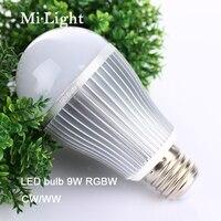 Mi. light Led Bubble Ampoule Lampes lumière dimmable 9 W E27 base RGBW/RGBWW couleur super luminosité réglable en stock bonne pack