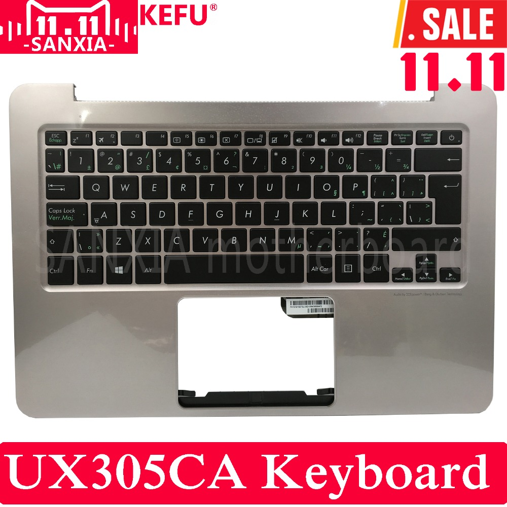 KEFU CB Keyboard for ASUS Laptop ZenBook UX305 UX305LA UX305UA UX305CA UX305F for asus ux305 ux305ca ux305la ux305fa 13 3 inch touch panel with digitizer