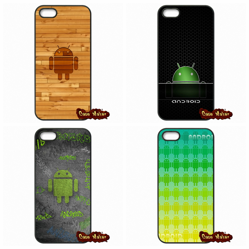 Funny Android Robot Logo Case Cover For Samsung Galaxy S3 S4 S5 MINI S6 S7 Edge Note 3 4 5 iPhone 4 4S 5S 5 5C  SE 6 6S Plus