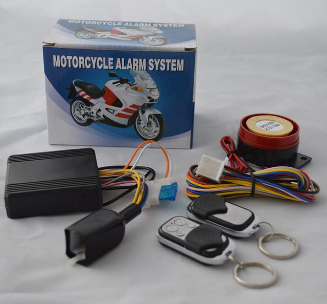 Sistema de Alarme da motocicleta Sistema de Alarme Keyless Entry Botão Iniciar Sistema de Parada de Partida Do Motor de Controle Remoto 2 Controle Remoto