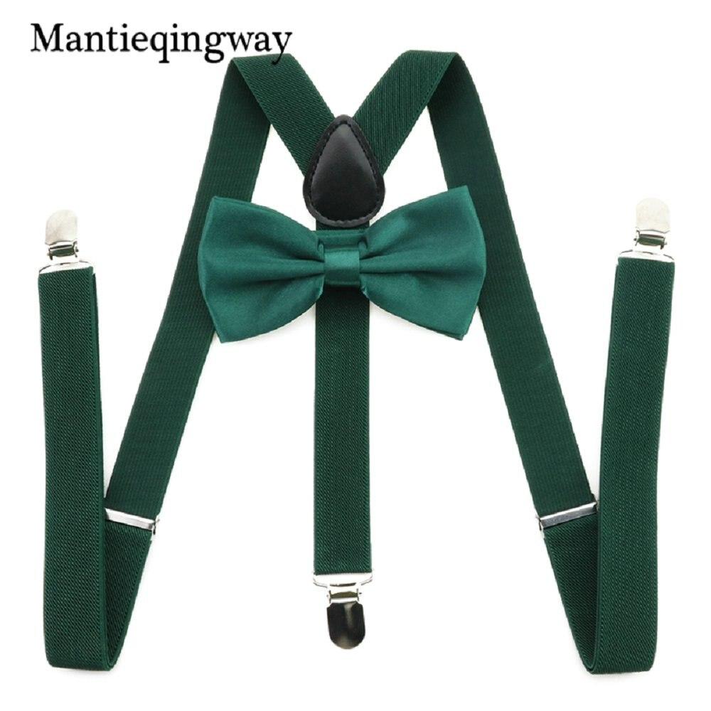 Mantieqingway 2.5cm Adjustable Adult 3 Clip-on Y Back Elastic Suspenders Bowties Set Suspender Braces Neck Ties Belts For Men