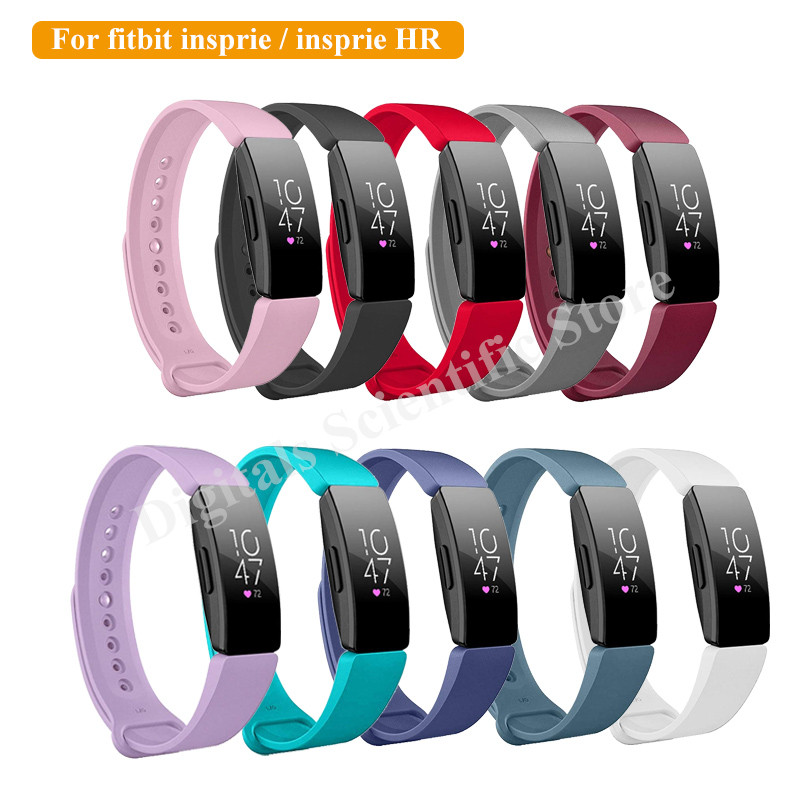 Strap For Fitbit Inspire Smart Bracelet Band Strap Official Texture Silicone Replacement Belt For Fitbit Inspire HR Smartband M6