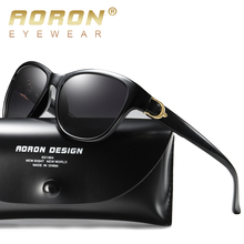 AORON Fashion damskie spolaryzowane okulary przeciwsłoneczne damskie klasyczne okulary akcesoria do okularów tanie tanio Okład Dla dorosłych Kobiety Poliwęglan Antyrefleksyjną UV400 Polaroid HD572 56 mm 51 mm TAC Polarized Lens 100 Protection Against Harmful UVA UVB UVC Rays