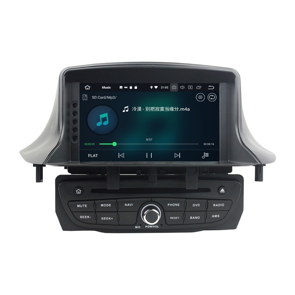 Android 8.0 Octa Core Car Multimedia DVDGPS for Renault Megane III Fluence 2009-2016 4GB RAM Radio Bluetooth WiFi Mirror-link