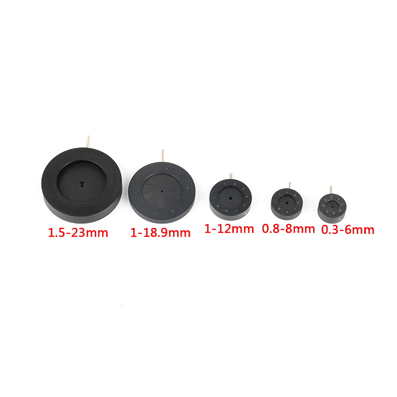 1-8mm Amplifying Diameter Zoom Optical Iris Diaphragm Aperture Condenser 8 Blades For Digital Camera Microscope Adapter