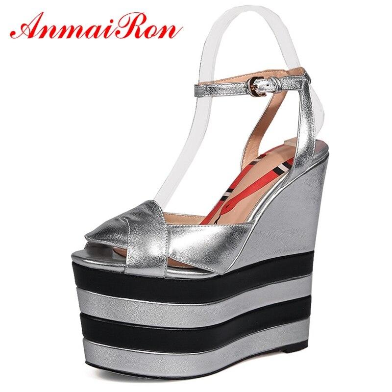 ANMAIRON Women Fashion  Elegant Sandals Super High Platform Sandals  Basic  Casual  High Heels Sandals Women Size 34-42 LY524ANMAIRON Women Fashion  Elegant Sandals Super High Platform Sandals  Basic  Casual  High Heels Sandals Women Size 34-42 LY524