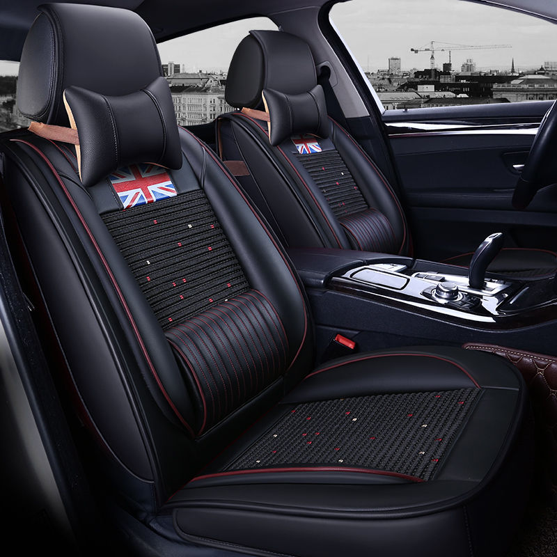 5 мест/комплект 5D Роскошный Британский Стиль Юнион Джек флаг кожаный автокресла охватывает Универсальный подушки набор для Авто Аксессуары