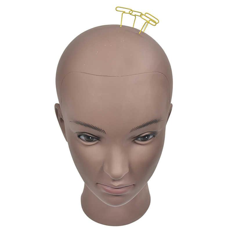 رئيس عارضة أزياء أصلع مع المشبك أنثى المعرضة رئيس لصنع شعر مستعار قبعة عرض التجميل القزم رئيس لممارسة ماكياج