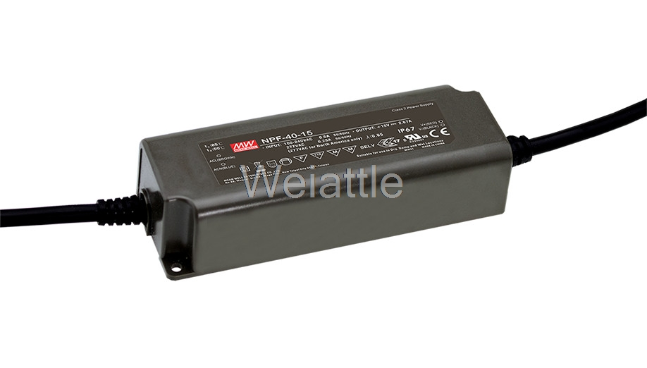 цена на MEAN WELL original NPF-40-24 24V 1.67A meanwell NPF-40 24V 40.08W Single Output LED Switching Power Supply