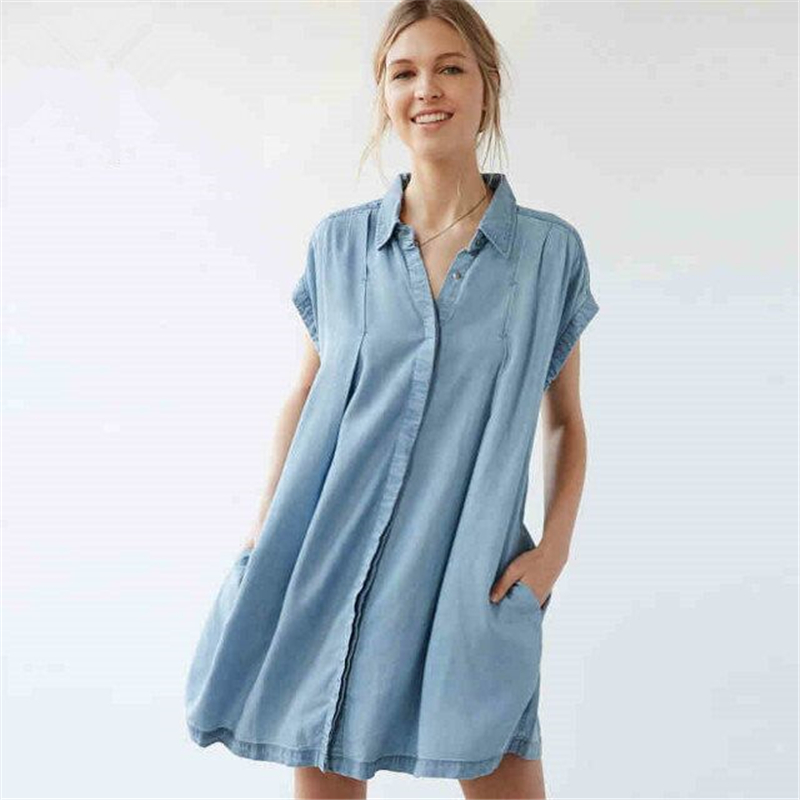 sedlkova 2018 new women plus size denim dresses jacket collar short sleeve jeans back belts long. Black Bedroom Furniture Sets. Home Design Ideas