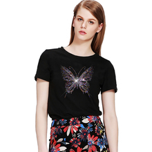 Free shiipping Big Colorful butterfly hot fix iron on designs transfer fixing rhinestones rhinestone applique