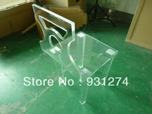 FREE SHIPPING pair of acrylic dining chairs,lucite vanity chair