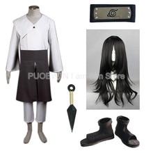 купить Anime Naruto Hyuuga Neji  Cosplay Costume Full Set with Wig по цене 4421.76 рублей