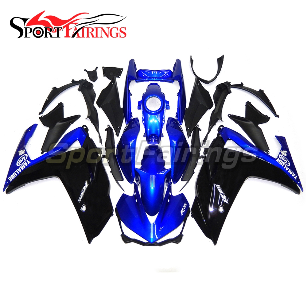 Complete Fairings For Yamaha R3 2015 R25 2014 2015 Injection ABS Plastic Motorcycle Fairing Kit Cowlings Black Blue Body Frames 2014 2015 2016 yzf r3 r25 abs injection fairing kit for yamaha yzfr3 yzfr25 pearl white complete fairings body kit cowling
