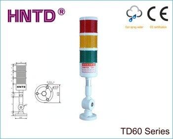 2015 nova HNTD 60 tipo Dobra 24 V muitas vezes brilhante 3 Cores com Buzzer LED Luz Indicadora de máquinas-ferramenta CNC trabalhando lâmpada de Advertência