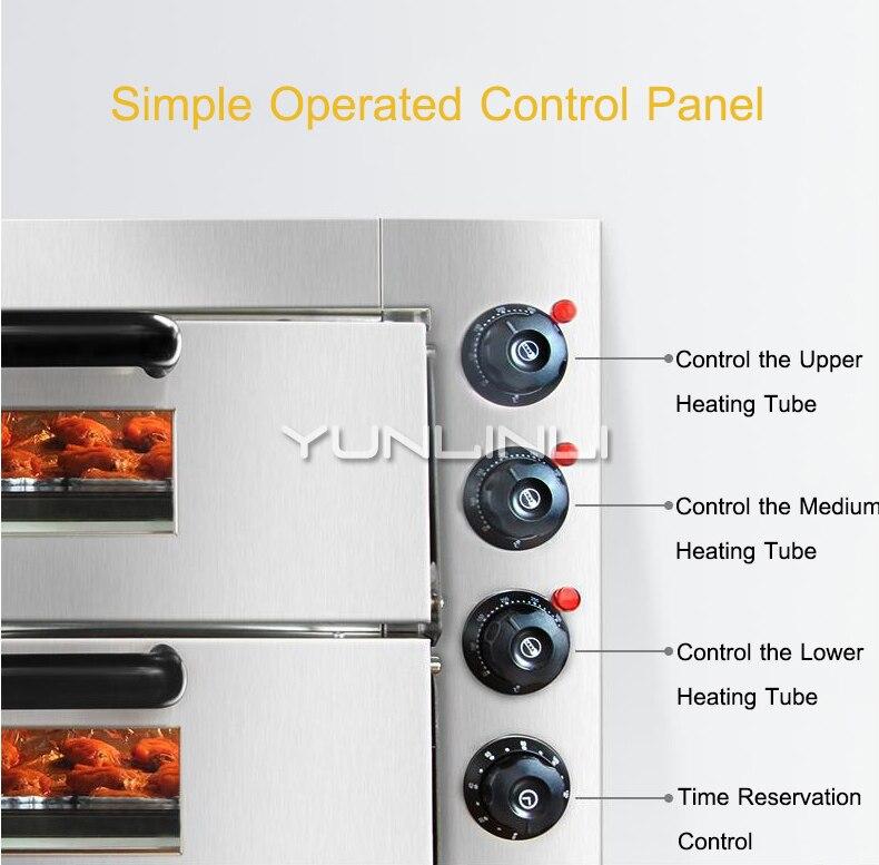 Double couche électrique grande Pizza cuisson four Commercial multifonction rôtissoire gâteau poulet gril faisant la Machine WL002 - 3