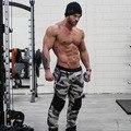 Músculo homens marca de fitness mens basculadores calças roupas da moda casuais calças de camuflagem academias sweatpants hip hop calças