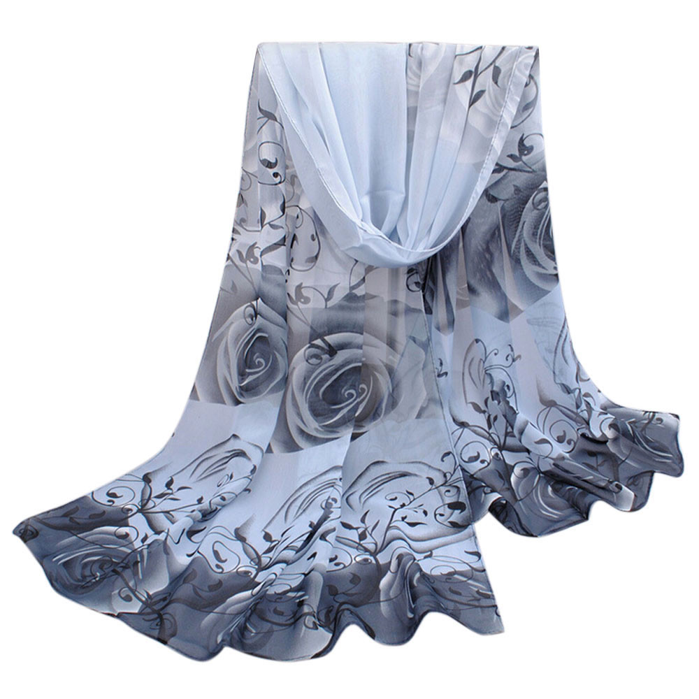 100cm*180cm Voile Scarfs For Ladies New Red Poppy Print Woman   Scarf   Flower Beach   Wrap   Ladies Stole Shawl Long   Scarf   #8120