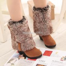 2016 new women warm winter boots Female cotton padded shoes snow fur boots fashion slope with Tall boots hot sale B860