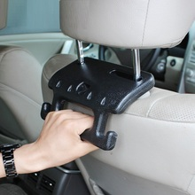 Car rear seat safety handle on the front seat headrest vehicle for elder person and child