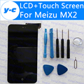 Экран Для Meizu MX2 100% Новый ЖК-Дисплей + Дигитайзер Стекла Сенсорная Панель На Складе Бесплатная Доставка + Номер для Отслеживания