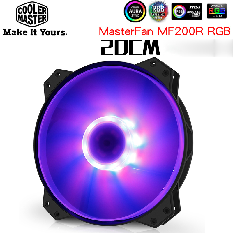 Cooler Master R4-200R-08FC-R1 MF200 Computer Case 20cm RGB Big <font><b>Fan</b></font> CPU Cooler Radiator Water Cooling 200mm Replaces <font><b>Fans</b></font> image