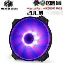 Кулер Master R4 200R 08FC R1 MF200 для компьютера, 20 см RGB большой вентилятор для процессора, кулер для охлаждения воды 200 мм, замена вентиляторов