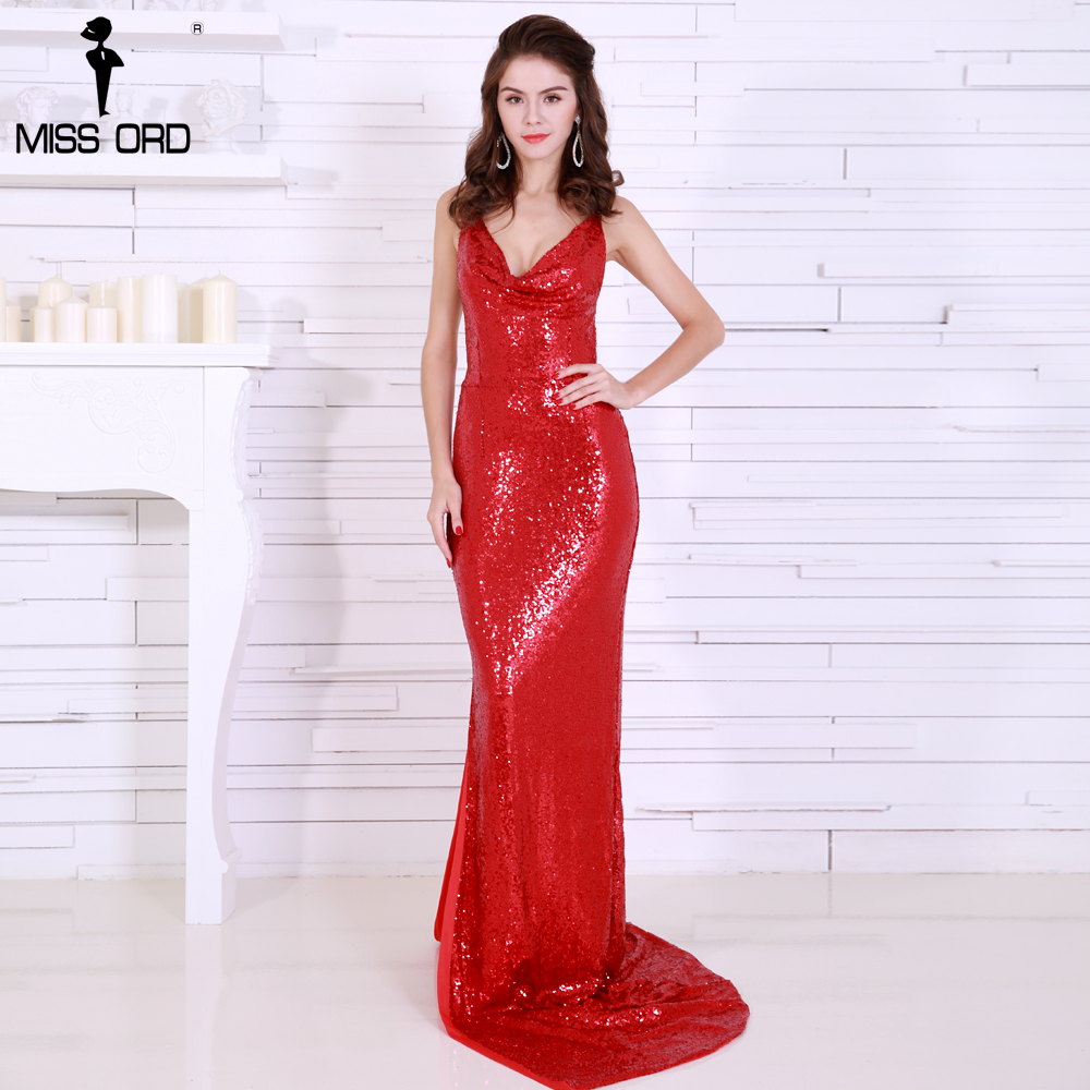 Missord 2018 Sexy harness V-neck backless sequin high split maxi dress VR8282-2