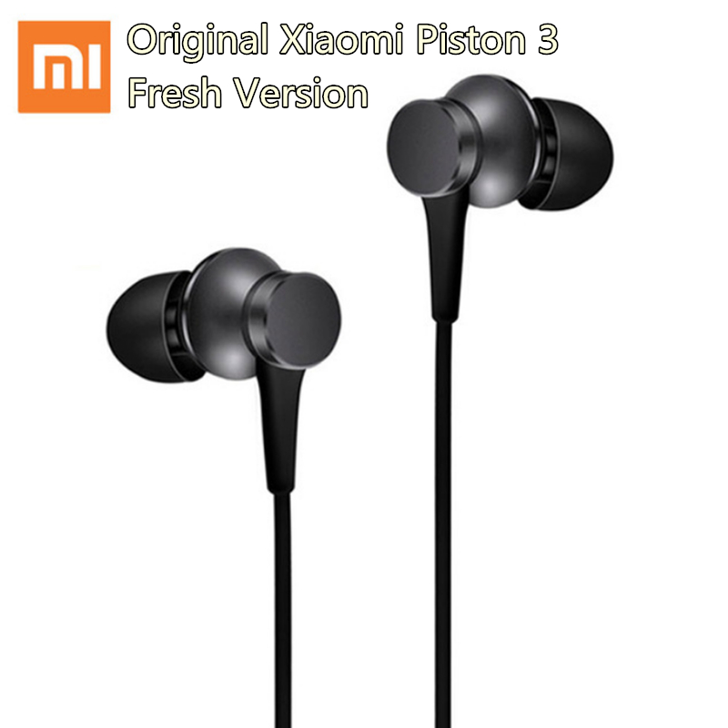 Newest Original Xiaomi Piston 3 Earphone Fresh Youth Version Stereo earphones with Mic Mi earphone for Samsung Xiaomi phone mp3
