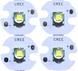 Image 2 - 5 PZ CREE XML XM L T6 LED U2 10 W BIANCO Bianco Caldo di Alto Potere LED 5050 12 V Diodo Emettitore con 12mm 14mm 16mm 20mm PCB per DIY