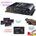 Lepai LP-269FS4x45W Mini Car Amplifier with Remote USB MP3Media Card FM Udisk/SDCard design radio function LED Screen