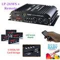 Lepai MP3Media LP-269FS4x45W Mini Amplificador de Carro com Controle Remoto USB FM Cartão Udisk/SDCard design função de rádio Tela LED